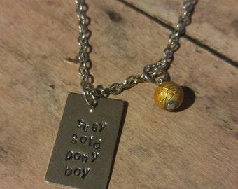 Stay Gold Pony Boy stamped necklace
