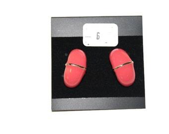 Vintage Pink Stud Earrings, Pink Earrings, Statement Earrings