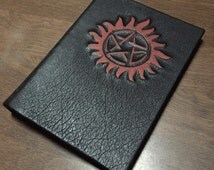 """Supernatural Leather Book Cover for iPads and other 8.9""""-10.1"""" tablets"""