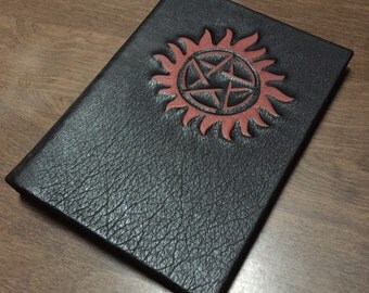 "Supernatural Leather Book Cover for iPads and other 8.9""-10.1"" tablets"