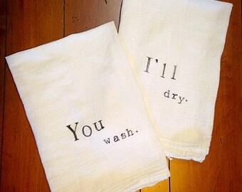 You wash/I'll dry Tea Towel Set