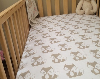 Custom Color Fox Crib Sheet
