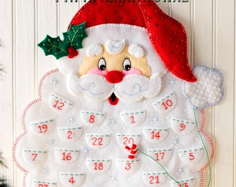 Bucilla Santa's Beard ~ Felt Christmas Advent Calendar Kit #86540 DIY