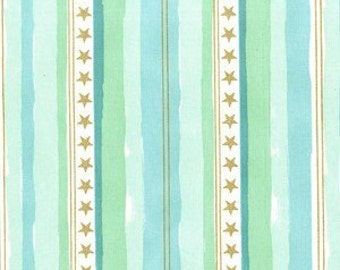 Sarah Jane, Magic, Stars and Stripes in Aqua Metallic