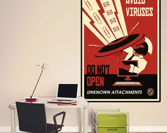 Avoid Viruses Propaganda Wall Decal - #70426