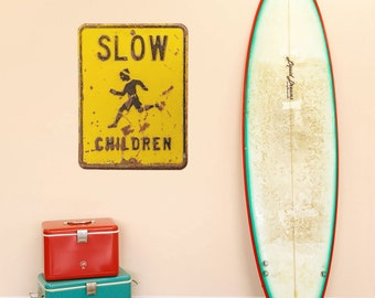 Slow Children Distressed Traffic Wall Decal - #49431