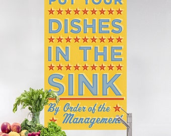 Dishes In The Sink Management Wall Decal - #64609