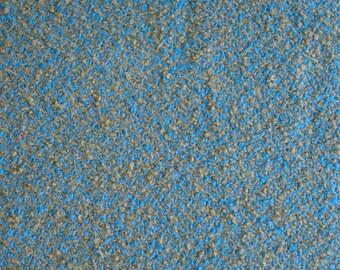 BTY - Tweed Blue & Sage Green Boucle Wool Fabric - Vintage Medium Weight Tweed Fabric #F-01-12