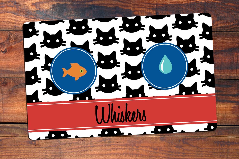 Personalized Cat Placemat Cat Mat Pet Food Mat Fabric
