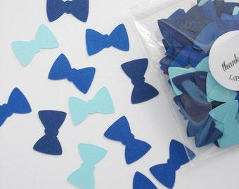 Bow Tie Confetti, Blue Bowtie Cutouts, Birthday Party, Boy Baby Shower, Party Decoration, Table Confetti, 100 CT, Ships in 2-3 Business Days
