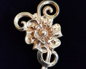 Vintage Sterling Silver SB Flower Brooch  #21