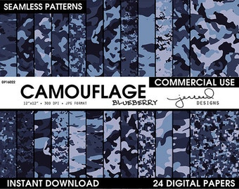 Blue Camo || Blue Digital Camouflage || Camoflage || US Navy Camo || Camo Designs || Different Camo Patterns || Commercial Use || DP16022