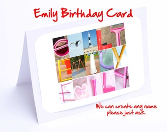Emily Personalised Birthday Card