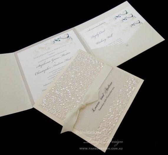 Modern Wedding Invitations. Pocket Fold By InvitationsbyTango
