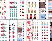 Alice Deluxe Kit (Classic and Mini) PDF + JPG Bundle Printable Planner Stickers  - Instant Download