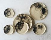 SALE Textured Bubble Glaze Dinner Plate Set