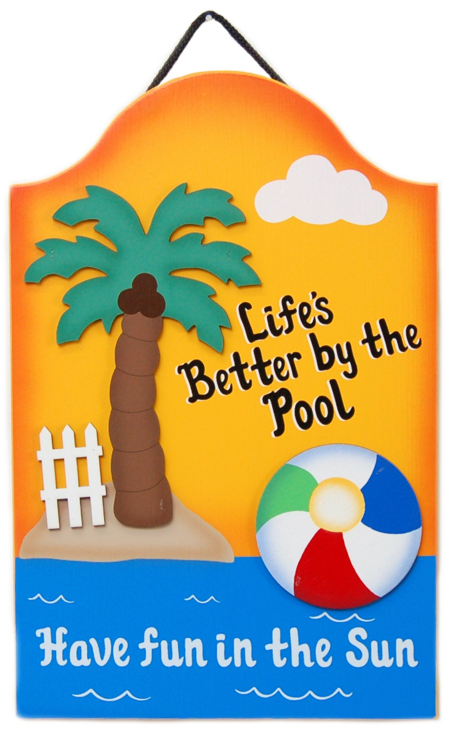 PERSONALIZED Outdoor Pool Sign Life's Better By the by ucsign