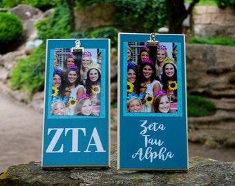 Zeta Tau Alpha Clip Frame