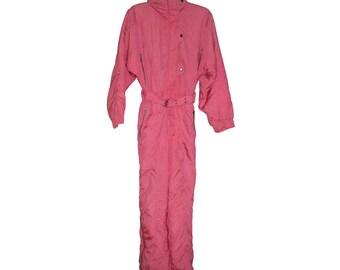 Vintage Etirel ® Le Style Sportif women snowsuit snow pink size 36