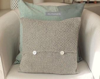 Knit PILLOW light gray melange