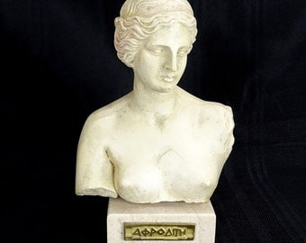 Venus Aphrodite Bust Statue Vintage FREE SHIPPING