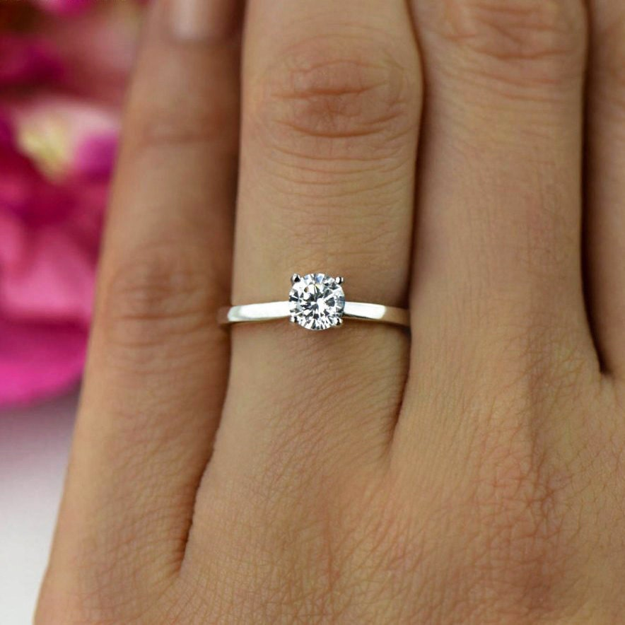 1 2 ct promise ring engagement ring classic solitaire ring