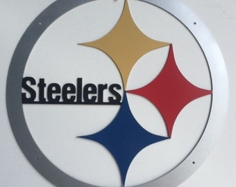 18 inch Pittsburgh Steelers Metal Wall Sign