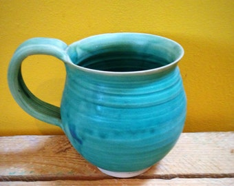 Mug in Caribbean Blue ceramic stoneware cup , mug