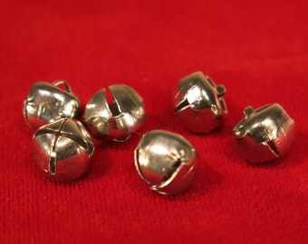 "10pc ""bell"" charms in antique silver style"