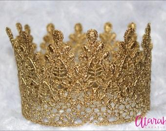 Gold crown Cake topper / Crown Cake Topper / Cake Topper / Photo Prop / cake smash crown / Wedding cake topper / MADE IN USA.