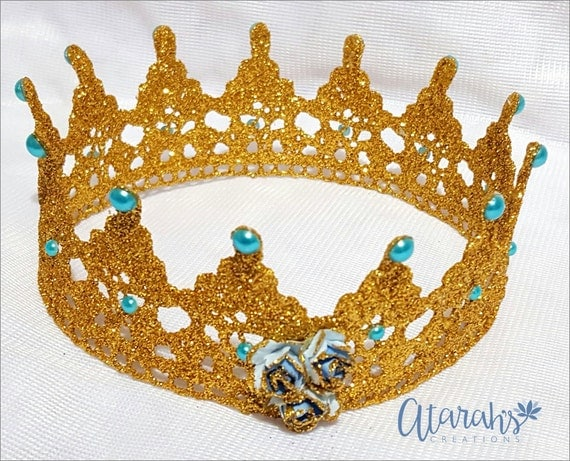 How To Make A Lace Crown Cake Topper