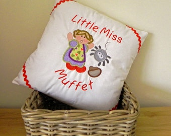 Little Miss Muffet Nursery Rhyme Cushion