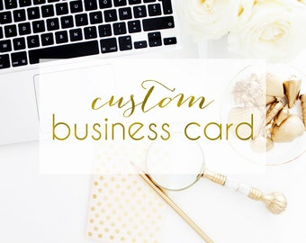 Custom business card design - Business card for small business, blog, photographer, web, shop