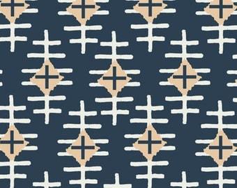 Navy Pouf- Boys Aztec Nursery Pouf- Nursery Cushion- Housewares Floor Pouf- Made to Order- Playroom Decor- Nursery Decor