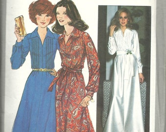 Simplicity 8249     Misses Dress in two lengths      Size 14   C1977
