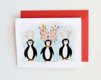 Christmas Cards - Funny Christmas Card - Funny Christmas Cards Set, Funny Holiday Cards