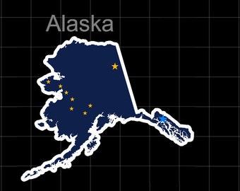 Alaska American State Flag Pride Decal Sticker