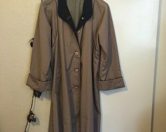 Black Trimmed Trench Coat