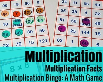 Multiplication Bingo Math Game
