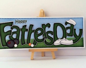 Fathers Day Bowls Card * Fathers Day Card * Bowls Card * Dad Card * Handmade Card * Happy Fathers Day * Card For Dad * Fathers Day *