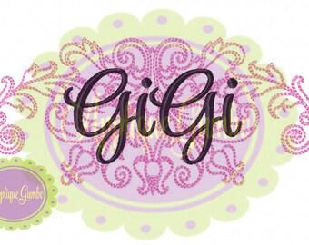 GiGi Damask Machine Embroidery Design