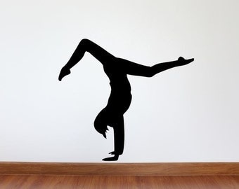 yoga pose silhouette  etsy