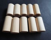 12Pcs 35x18mm  wood tube no varnish with big hole:12mm (NW200)