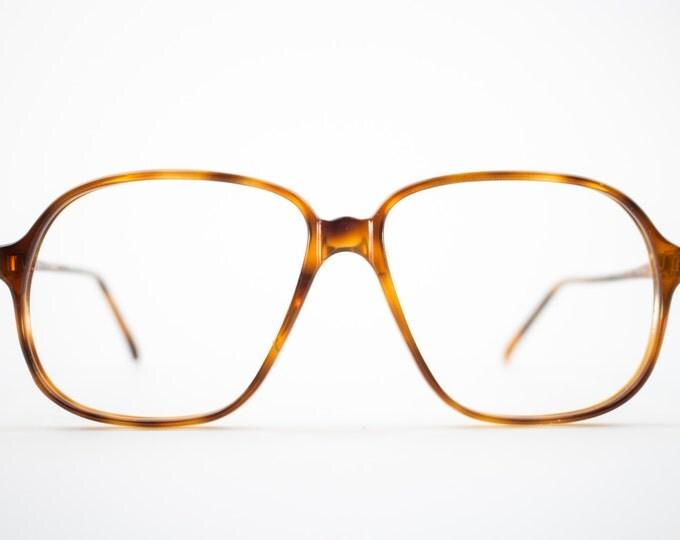 Vintage 80s Eyeglass Frame | Oversized Tortoiseshell Glasses | NOS 1980s Aviator Eyeglasses - Pisa 3703