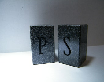 Salt and Pepper Shakers/Granite Salt and PepperShakes/ Stone Shakers