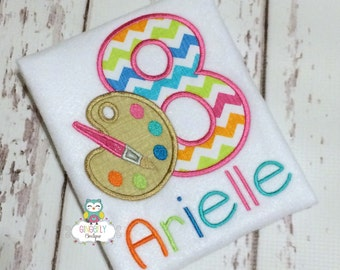 Paint Pallet Birthday Shirt, Girl Paint Birthday Party Theme, Paint Pallet Birthday Theme, Art Theme Birthday Party, Girl Art Theme Birthday