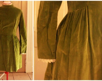 50s Velvet Fit-and-Flare Party Dress Size S/M