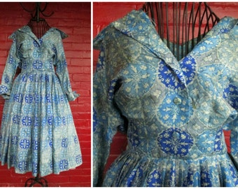 50s Fit-and-Flare Suzy Perette New Look Dress Size S