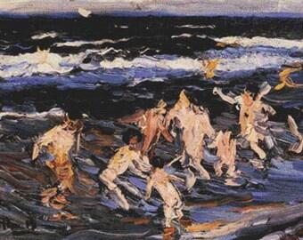Children In The Sea PDF Cross Stitch Pattern