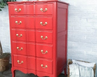 AVAILABLE: Red Painted Chest